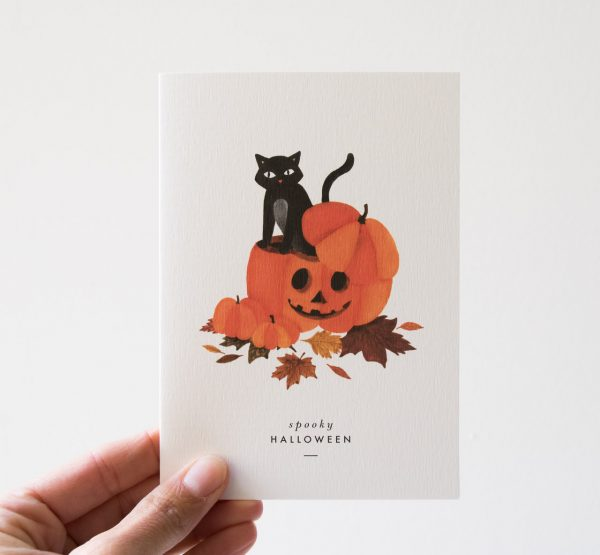 Carte Halloween - Citrouille All the ways to say - maison mathuvu