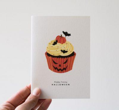 Carte Halloween - Cupcake All the ways to say - maison mathuvu
