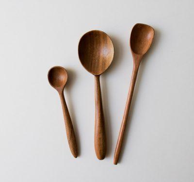 Set de 3 cuillères en bois - Pagaie Bungalow - maison mathuvu