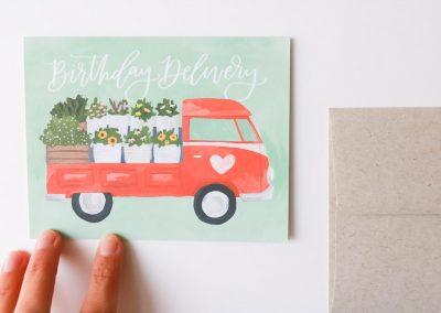 Carte - Birthday delivery 1canoe2 - maison mathuvu