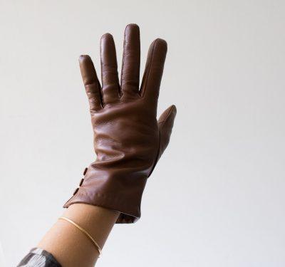 Gants en cuir - Boutons Glove story - maison mathuvu