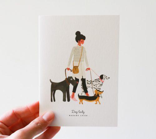 Carte - Madame chien all the ways to say - maison mathuvu