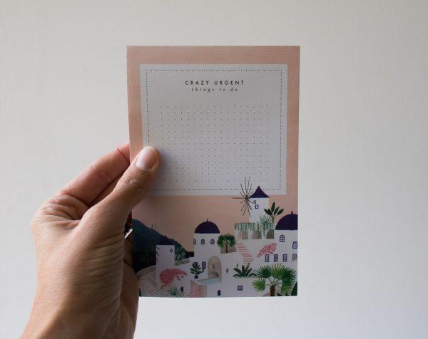Bloc-notes - Santorini All the ways to say - maison mathuvu