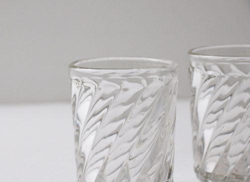 Photophore en verre sculpté chiné - maison mathuvu
