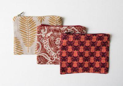 Pochette Julie - Feuillage, Scarabée et Fleurs Maison Mathûvû