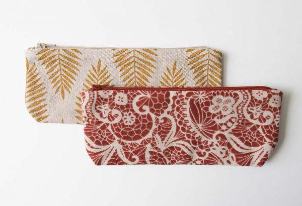 Trousse à crayons Martine - Feuillage et Fleurs Maison Mathuvu