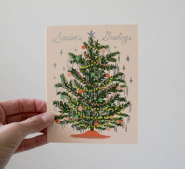 Carte - Sapin de Noël Rifle paper co - maison mathuvu