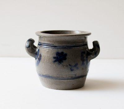 Cache-pot - Bleu gris chiné - maison mathuvu