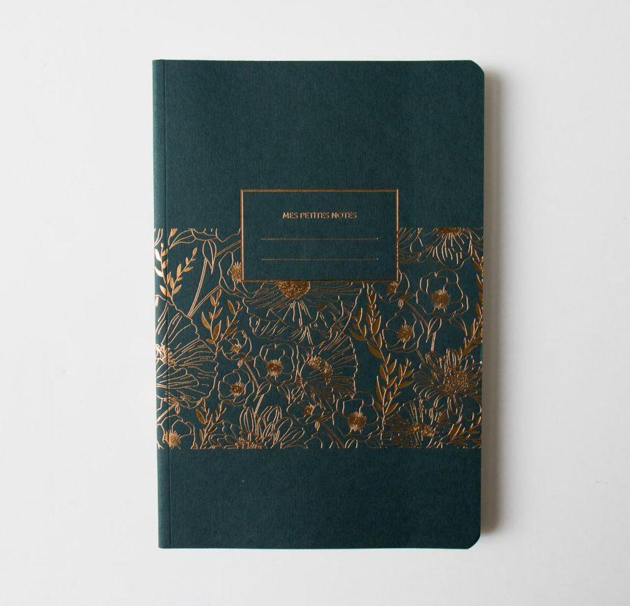 Carnet épais - Fleurs Les éditions du paon - maison mathuvu