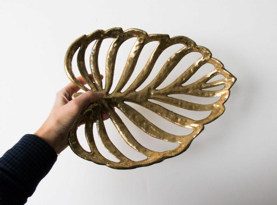 Coupe - Feuille dorée Bloomingville - maison mathuvu