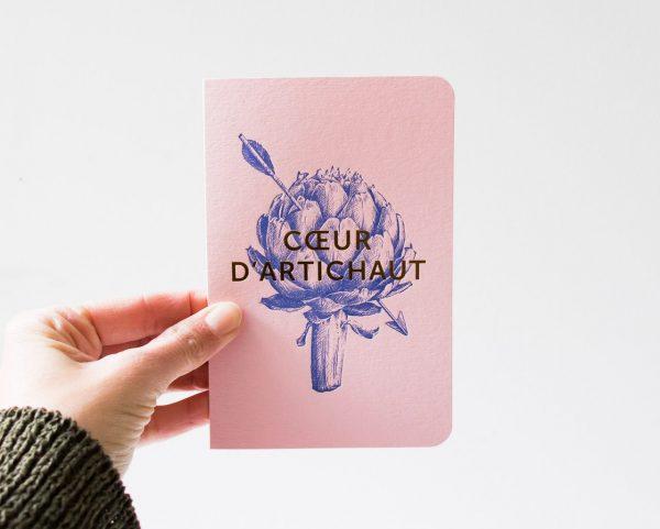 Carte - Cœur d'artichaut Les éditions du paon - maison mathuvu