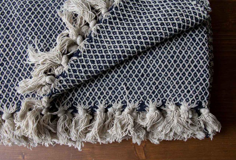 Plaid en coton Bloomingville - maison mathuvu