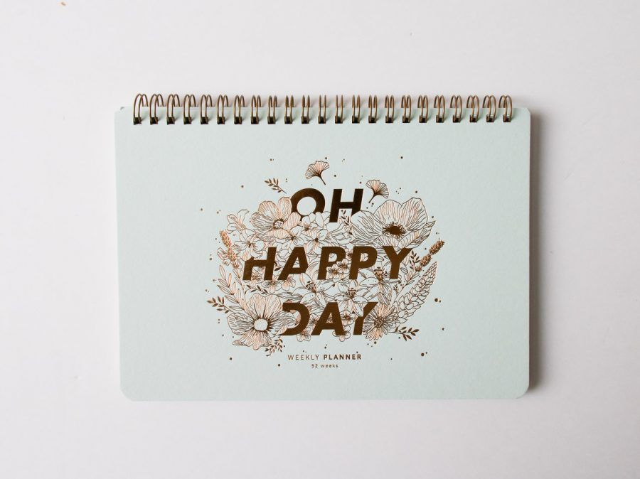 Semainier - Oh happy day Les éditions du paon - maison mathuvu