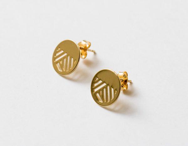 Boucles d'oreilles puces - Quadrature Eskhina - maison mathuvu