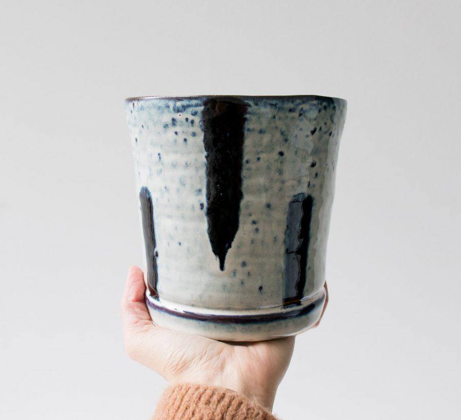 Cache-pot - Traits bleus bloomingville - maison mathuvu