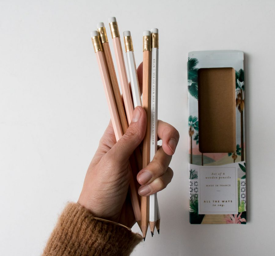 Set de 6 crayons - Palm spring all the ways to say - maison mathuvu