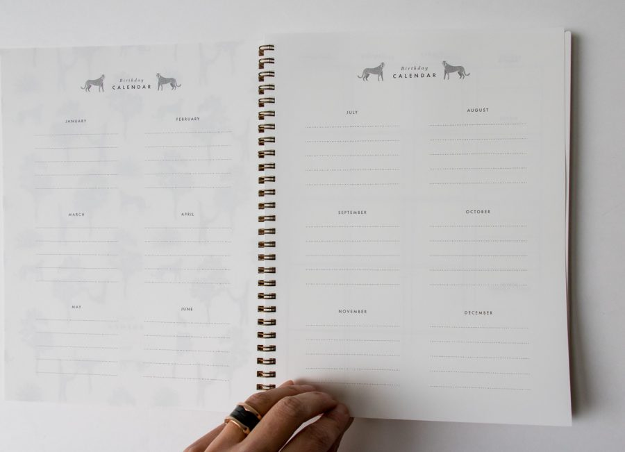 Agenda mensuel - Tiger All the ways to say - maison mathuvu