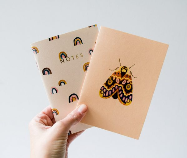 Carnets de poche - Arc en ciel et Papillon all the ways to say - maison mathuvu