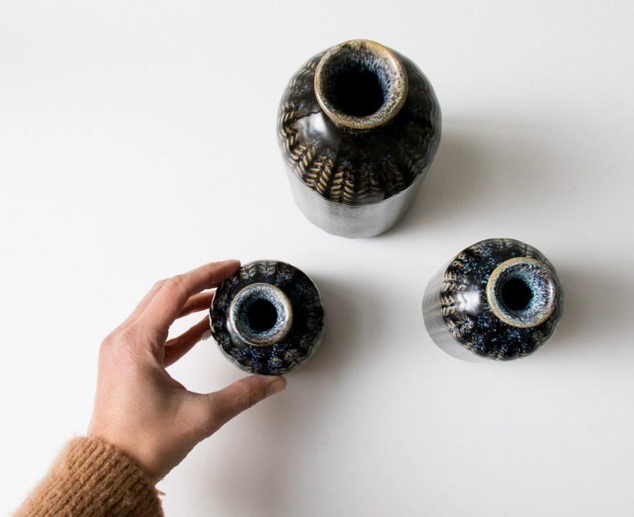 Vases bleus - Épis de Bloomingville chez Maison Mathûvû