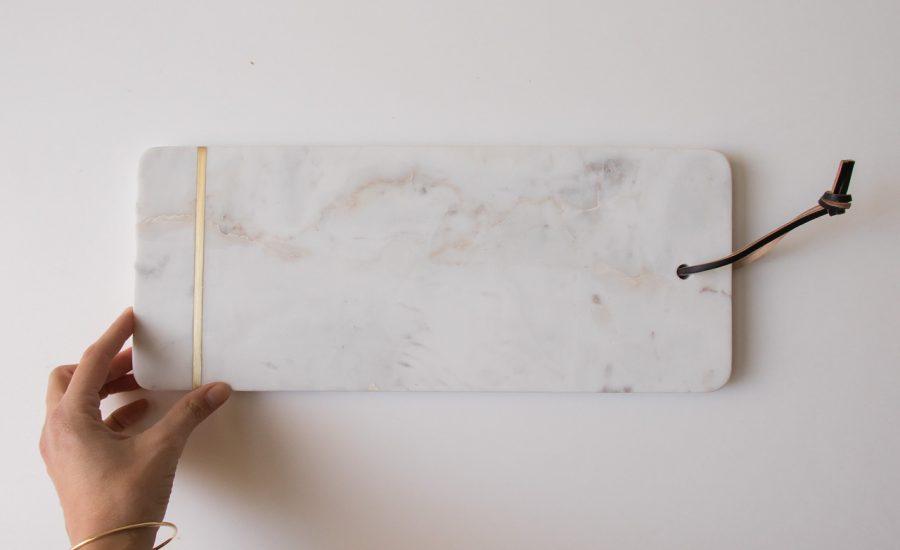 Planche en marbre - Trait or Bloomingville Maison Mathûvû