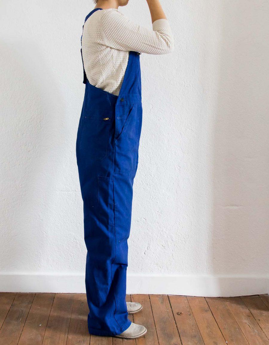 Salopette - Marcel bleu de travail chiné par Maison Mathûvû