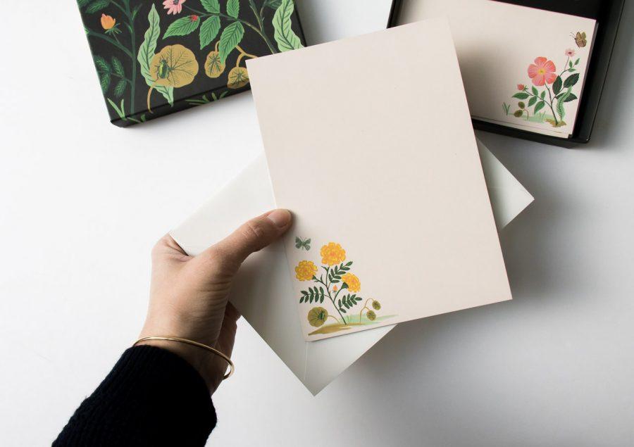 Papier à lettre - Botanique rifle paper co - maison mathuvu