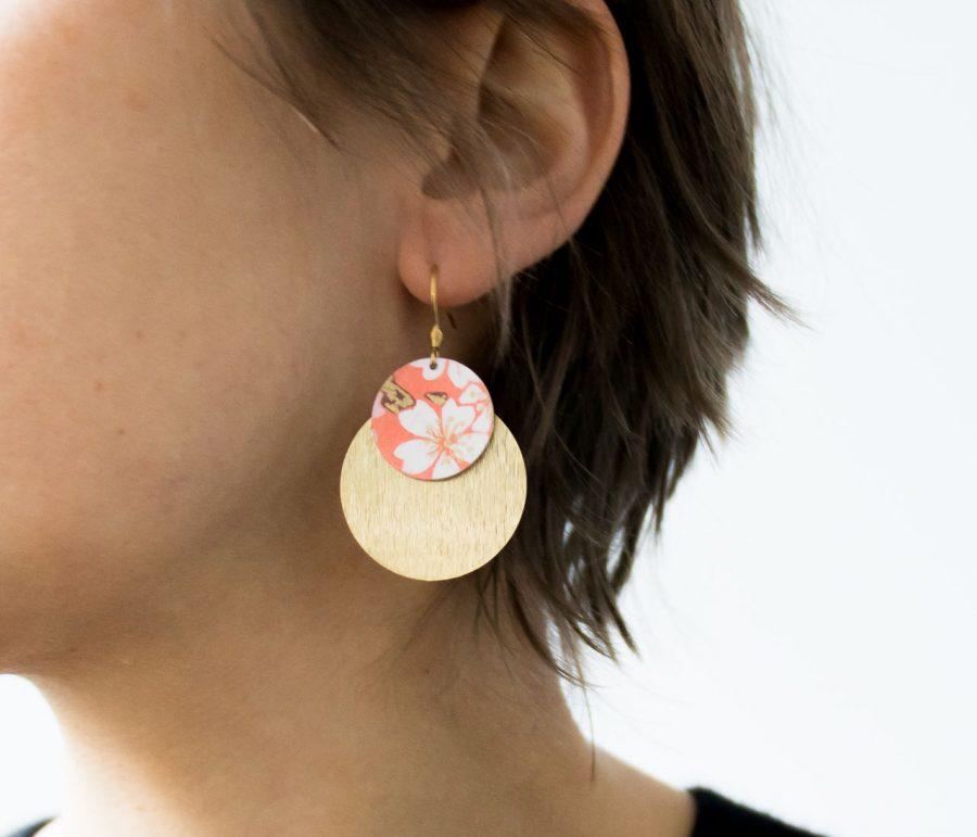 Boucles d'oreilles Lili Jade - Corail maison mathuvu