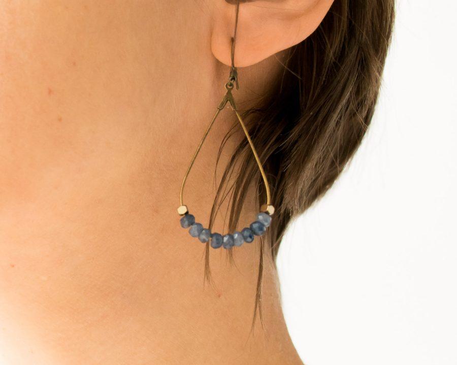 Boucles d'oreilles - Alma bleu maison mathuvu
