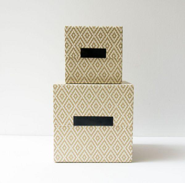 Boîte - Losange beige house doctor - maison mathuvu