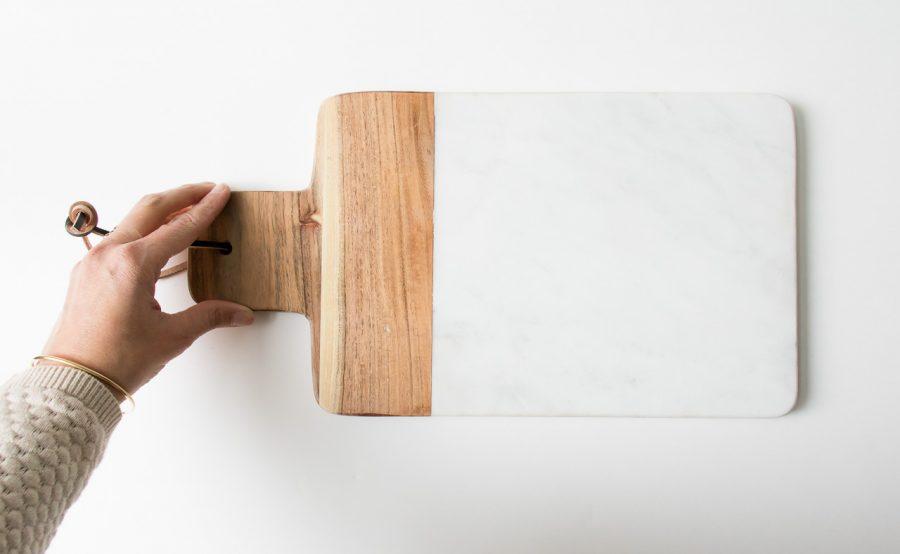 Planche en marbre et bois bloomingville - maison mathuvu
