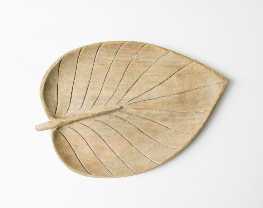Feuille en bois de manguier bloomingville - maison mathuvu