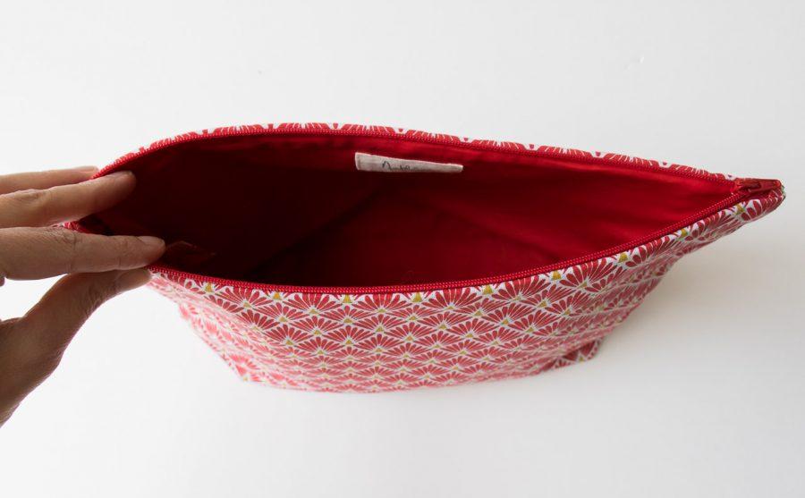Trousse de toilette Mira - Plume rouge Maison mathuvu