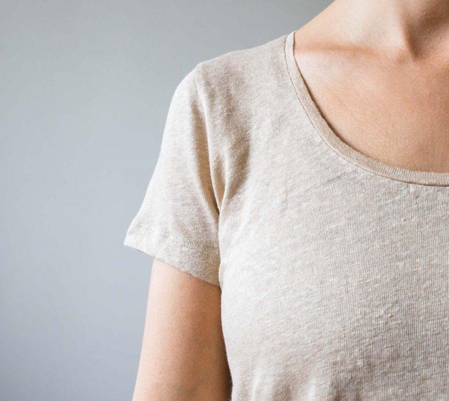 T-shirt basique lin - Amande Ese o ese - maison mathuvu