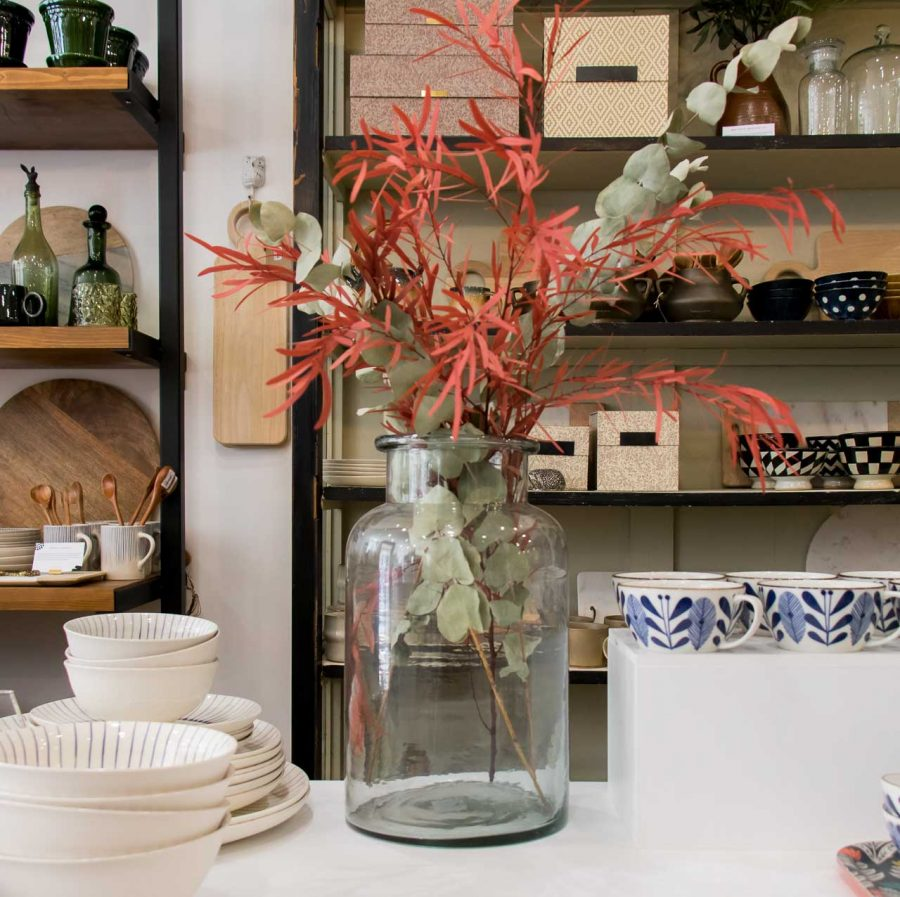 Vase en verre haut Madam stoltz - maison mathuvu