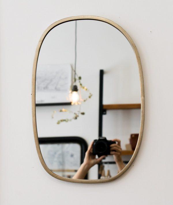 Miroir bord métal - Elea chehoma - maison mathuvu
