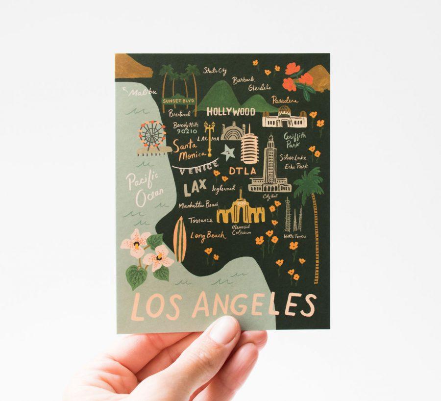 Carte - Los Angeles rifle paper co - maison mathuvu