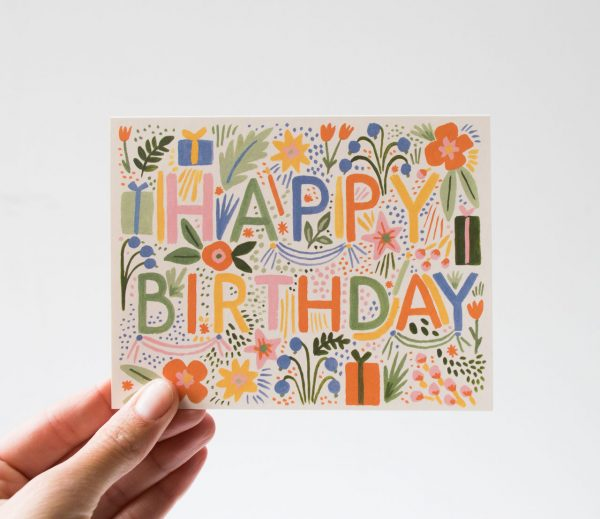 Carte - Happy rifle paper co - maison mathuvu