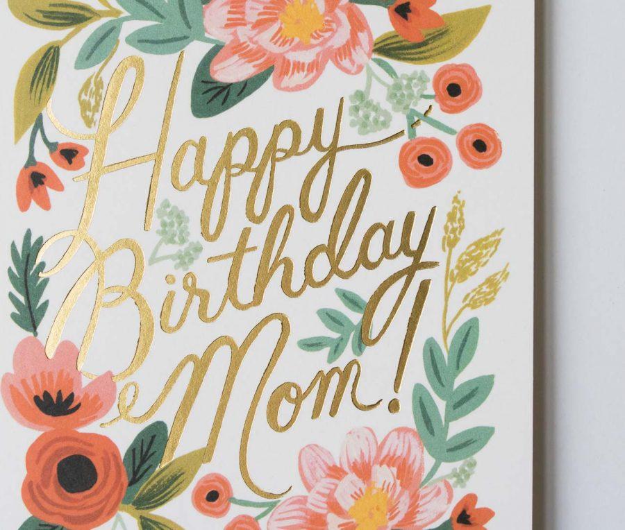 Carte - Happy birthday Mom rifle paper co - maison mathuvu