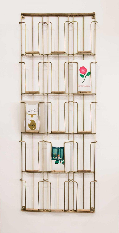 Porte-cartes métal et bois - Grand modèle Madam stoltz - maison mathuvu