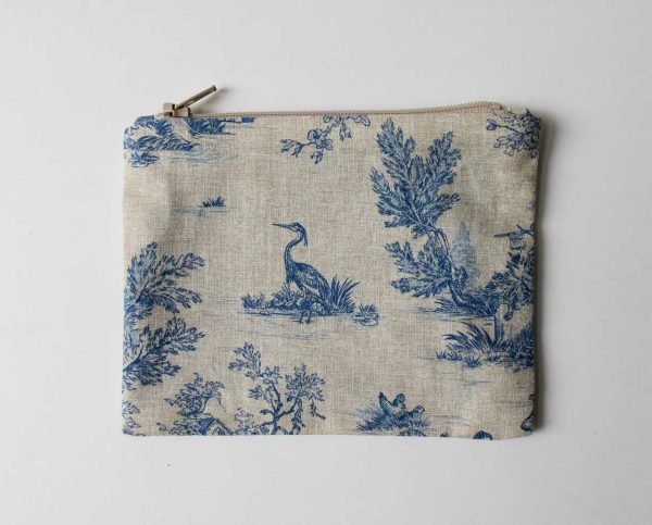 Pochette Luji - Toile de Jouy bleu Maison mathuvu