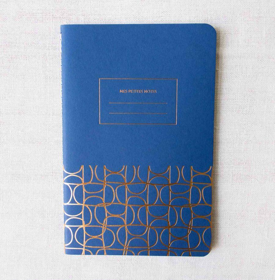 Carnet fin - Abstrait bleu Les éditions du paon - maison mathuvu