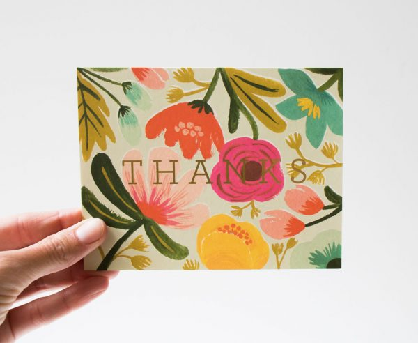 Carte - Thanks rifle paper co - maison mathuvu