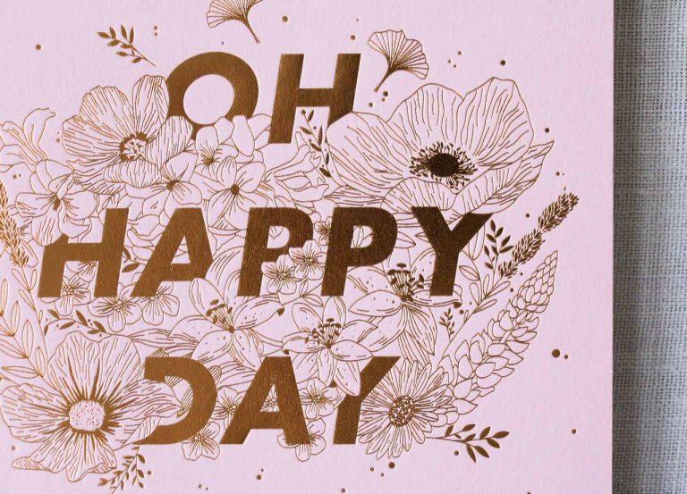 Carnet épais - Happy day rose les éditions du paon - maison mathuvu