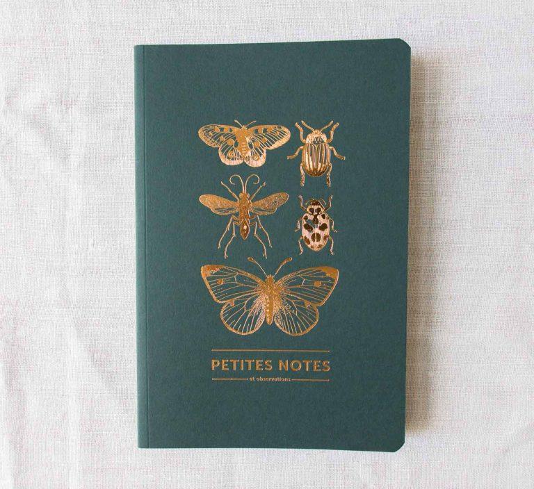 Carnet épais - Papillon vert les éditions du paon - maison mathuvu