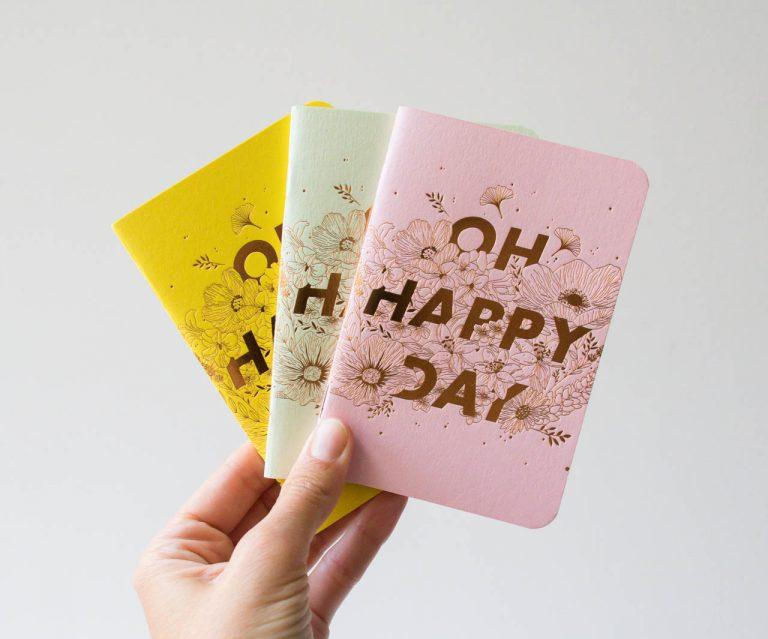 Petit carnet - Happy day les éditions du paon - maison mathuvu