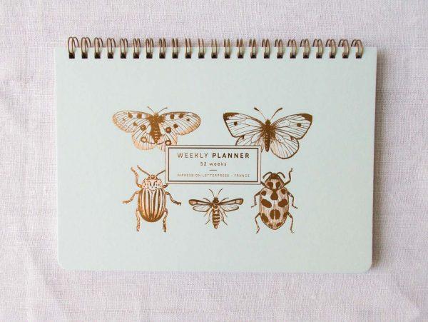 Semainier - Papillon les éditions du paon - maison mathuvu