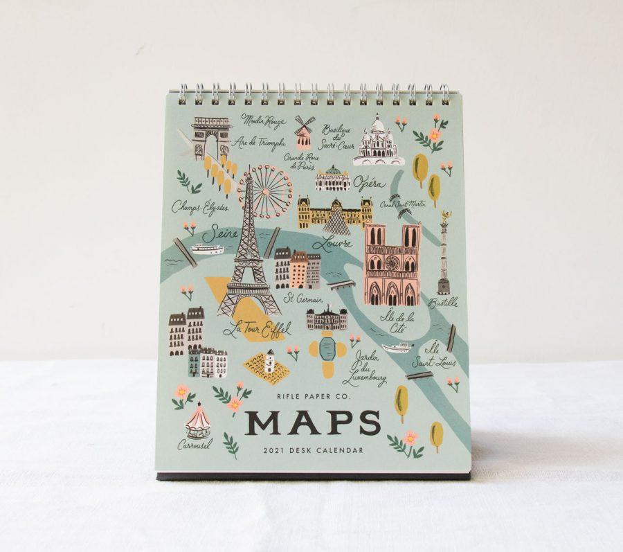 Calendrier 2021 - Maps rifle paper co - maison mathuvu