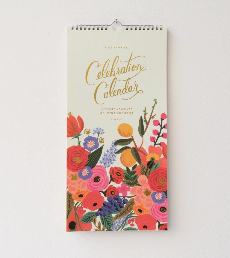 Calendrier - Célébration Rifle paper co - maison mathuvu