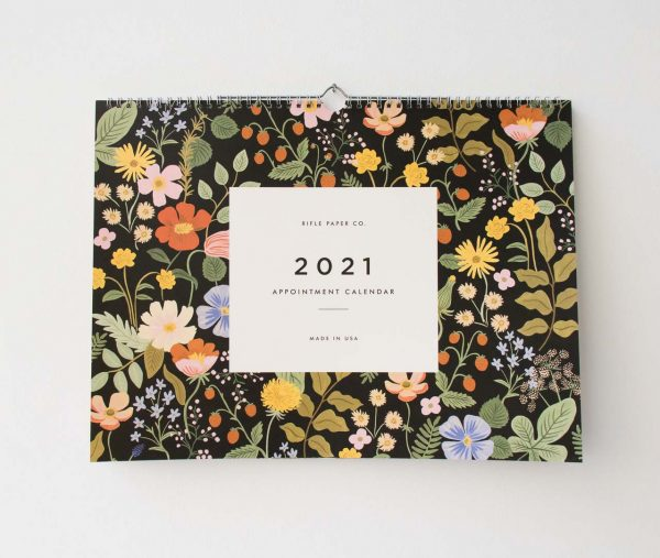 Calendrier 2021 - Strawberry rifle paper co - maison mathuvu