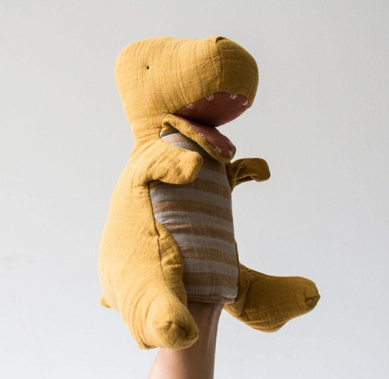 Peluche marionnette - Tyrex Maileg - maison mathuvu